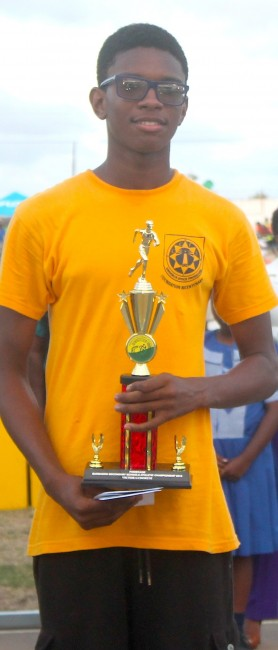 Nathan Crawford- Wallis of Christ Church Foundation was the victor ludorum competing in the under-15 age group.