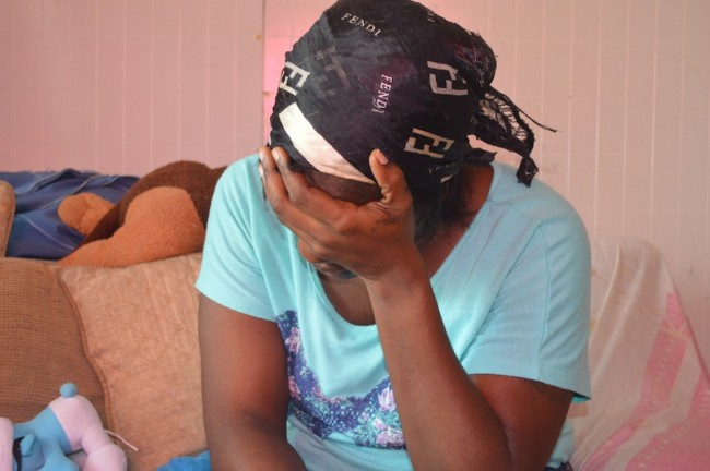 Kimberly Adams is distraught after her son ran away in the space of three days in search of his father.