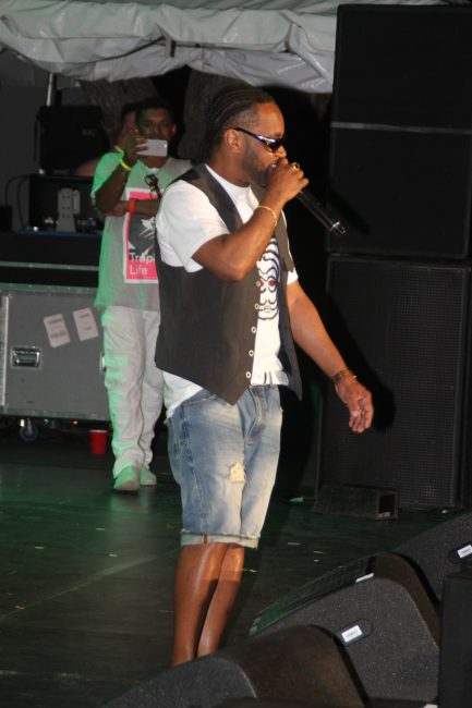 Reggae artist Rayvon took the patrons down memory lane with his hits.
