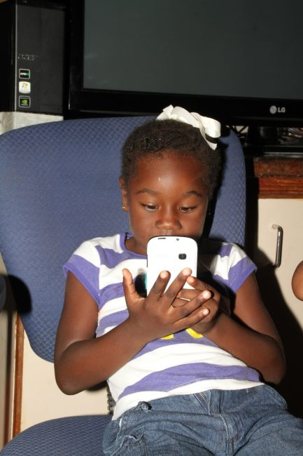 Skye, who lost her mother Krystal Lovell in a brutal killing over two years  ago, is like any other four-year-old. She loves technology and keeps active.