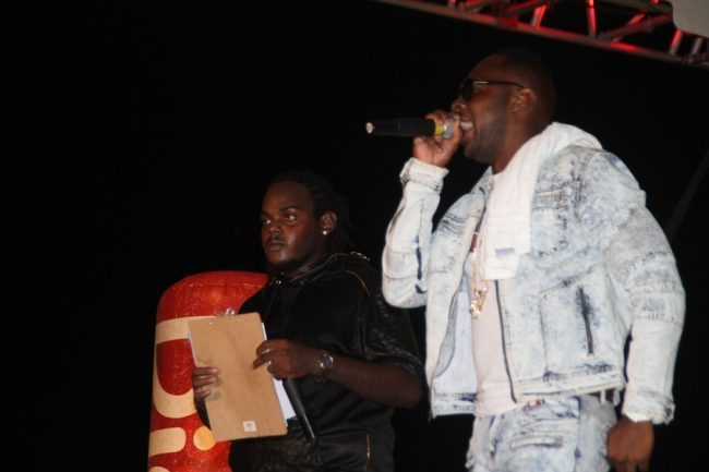 Seth (left) and his co-host Jamar during the show.
