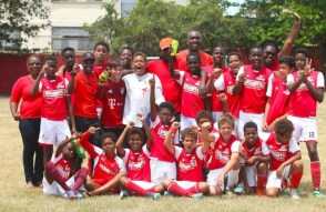 Kick Start are the champions of the Under-13 category of the Barbados Cup. (Pictures by Morissa Lindsay)
