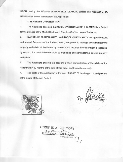 Court order page 1