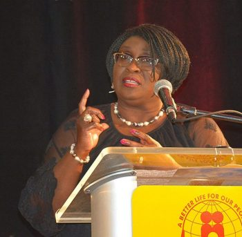Former BLP cabinet minister Liz Thompson recounted the party's years of governance from 1994 to 2008.