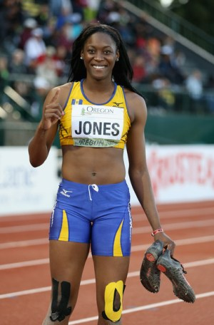 Akela Jones has the best chance at a medal.