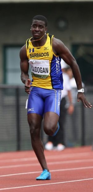Levi Cadogan has to run sub-10 to be a contender.