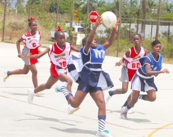 West Terrace wing-attack Riann Wiggins had the safest pair of hands as her team defeated Welches Primary.