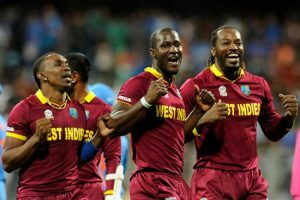 (From left) Dwayne Bravo, Darren Sammy and Chris Gayle have been mouthing off about West Indies team selections.