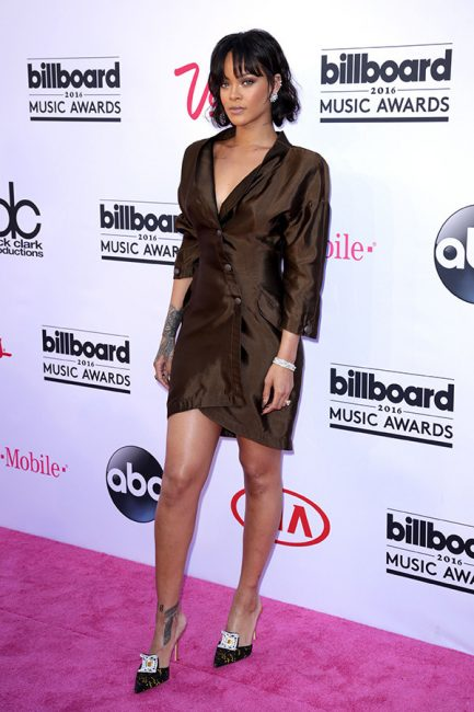 Rihanna as she appeared on the Billboard Red Carpet.