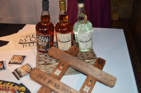 Real McCoy Rum, produced by Four Square Distilleries, was on display at Rum & Rhythm in New York.