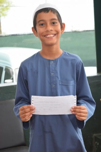 Talha Mohamed got a perfect score in Mathematics in this year's Common Entrance Exam.