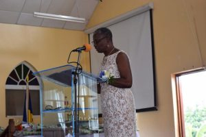 Principal Rosalind Goodridge delivering  her remarks.