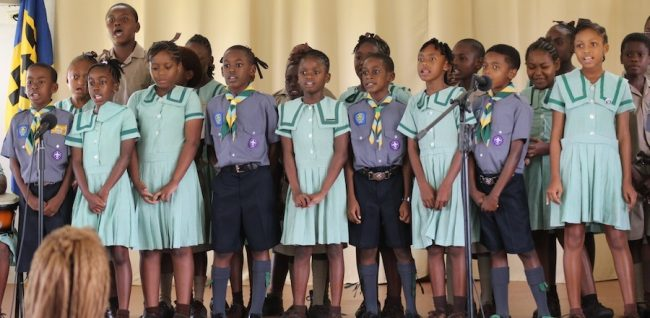 Class Two students performing Edwin Yearwood's Something Greater.