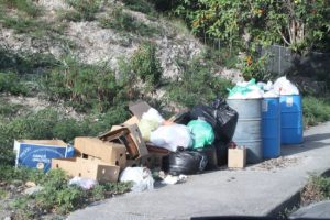 Holders Hill, St James, was one of the few areas where  there was a pile up of garbage.