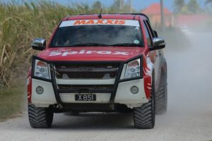 Leslie Alleyne and Chris O'neal will be in action in their Isuzu D-Max this weekend.