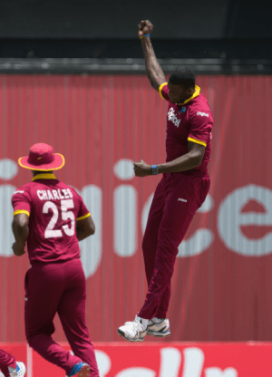 West Indies hoping Jason Holder (right) will be available for tomorrow's game.