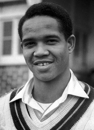 A young Sir Garfield Sobers while playing county cricket for Nottinghamshire.
