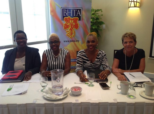 From left, Acting Comptroller of Customs Annette Weekes, BRA Revenue Commissioner Margaret Sivers, BHTA Chairman Roseanne Myers and BHTA CEO Sue Springer at the first in a series of working group sessions.