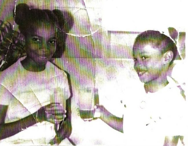 A young Wendy Sawyer with her sister Marva Millar-Williams in 1970.