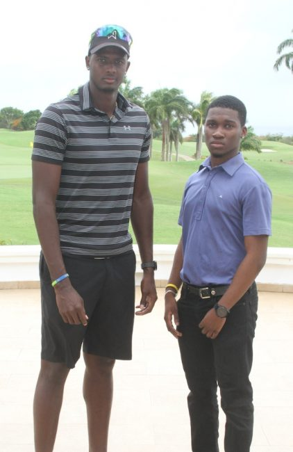 Jason Holder and Sachin Clarke at Royal Westmoreland.