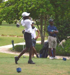 Seibert Walker of Jamaica is in second place.
