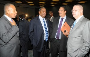 HEADS ALL: From left, Patrick Manning of Trinidad and Tobago, Baldwin Spencer of Antigua and Barbuda, Dr Kenny Anthony of St Lucia and David Thompson of Barbados.