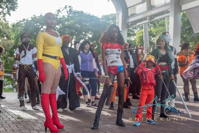 One Punch Man, Harley Quinn and Iron Man. (Photos compliments ANIMEKON VII.)