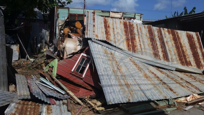 The remains of Maureen Scantlebury's home.