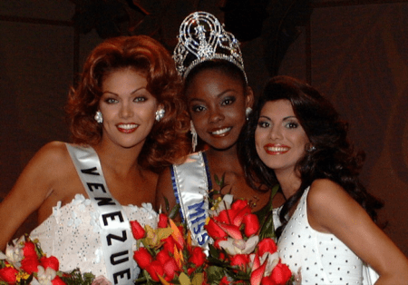 Trinidadian Wendy Fitzwilliam (center) won the coveted title in 1998.