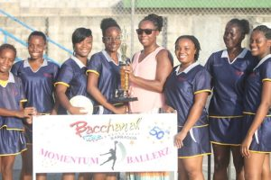 Bacchanal Time Momentum Ballers were adjudged the best team on parade and were presented with their award from the BWU by general secretary Toni Moore.