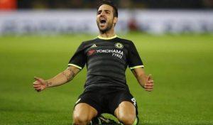 Cesc Fabregas scored a brace for Chelsea Tuesday.