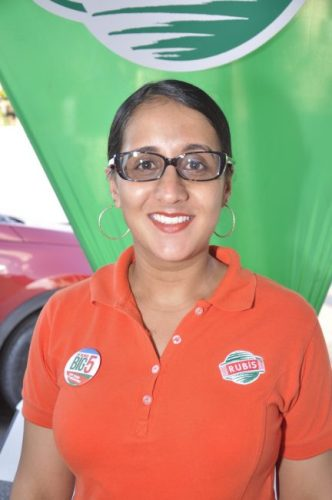 Retail sales executive of Rubis Barbados Amina Green.