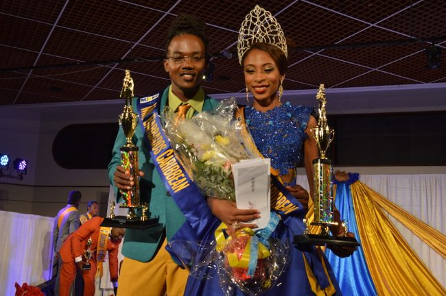 The newly Crowned King & Queen Oswald Job and Terian Reid.