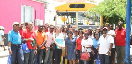 The members of the Small Business Association during their Bajan Bus tour.