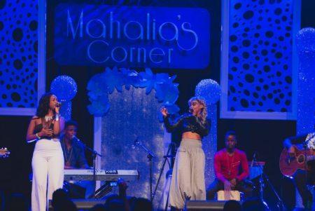 Roché (left) and Mahalia Cummins performing Uninvited.