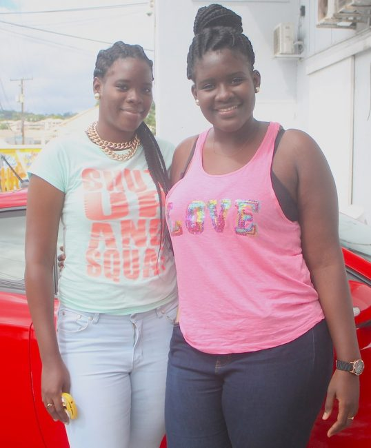 The Wharton sisters (from left) Shanice and Shonica.