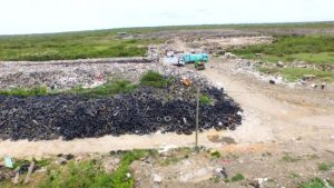 The tyre situation at the Haags Bosch dumpsite.