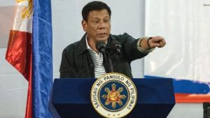 The Philippines' president Rodrigo Duerte