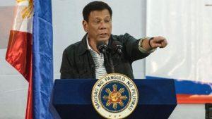 The Philippines' president Rodrigo Duerte