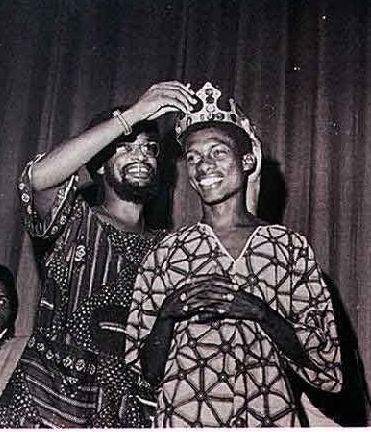 The young calypsonian  Gabby being crowned in 1976. Photograph courtesy Peter Roy Byer /Caribbean Beat