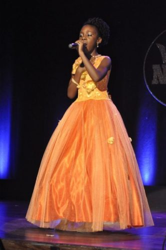Little Trinity Clarke made it to the junior finals with her impressive rendition of My Redeemer Lives.