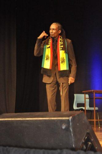 Elijah Tafari delivering  Rastaman Parliament.