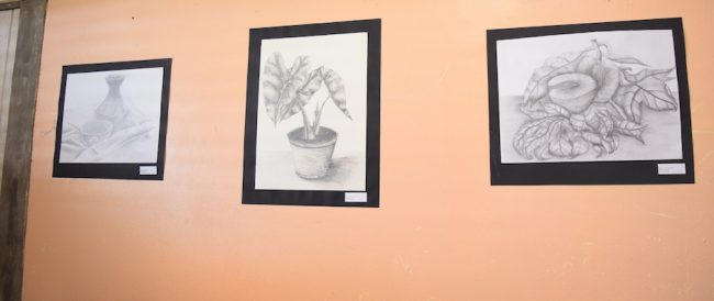 Some of the students' drawings.