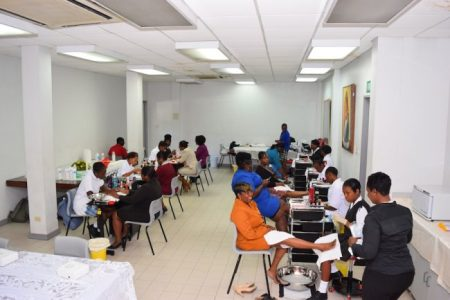 The Ministry of Education theatre was transformed into a spa for Health Day.