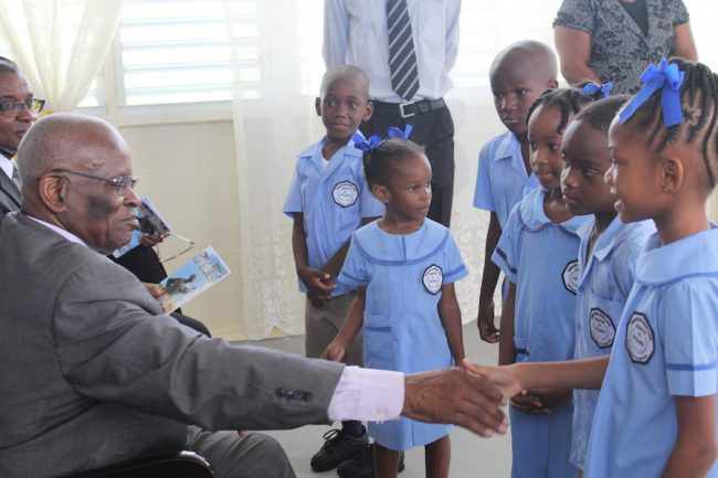 The students of Infants A and Infants B got the opportunity to meet the Governor General.