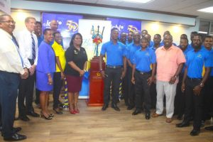 Staff of Insurance Coporation of Barbados Limited met with members of the Barbados Pride Franchise Thursday. (Picture by Morissa Lindsay)