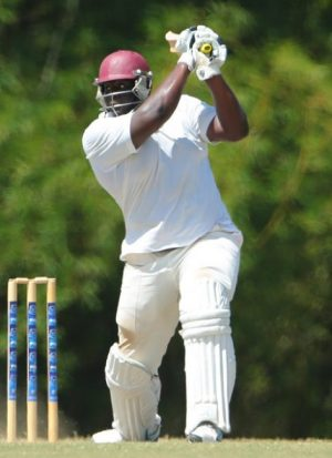 Rahkeem Cornwall scored 25 and returned to take four wickets.