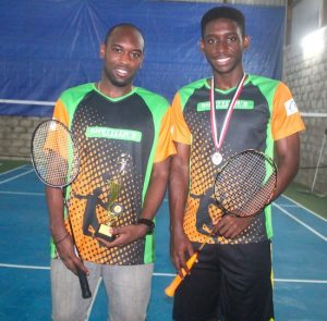 (From left) Dakeil Thorpe and Cory Fanus, the new doubles champion at the 2016 Solo in Trinidad and Tobago. (Pictures by Morissa Lindsay)