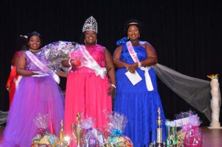 From the left 2nd runner up Khenya King, centre Winner Gale-Ann Williams and right 1st runner up Monique Deane.