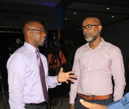 Minister of Culture Stephen Lashley in conversation with Freddie Hill, director at FAS7STAR.